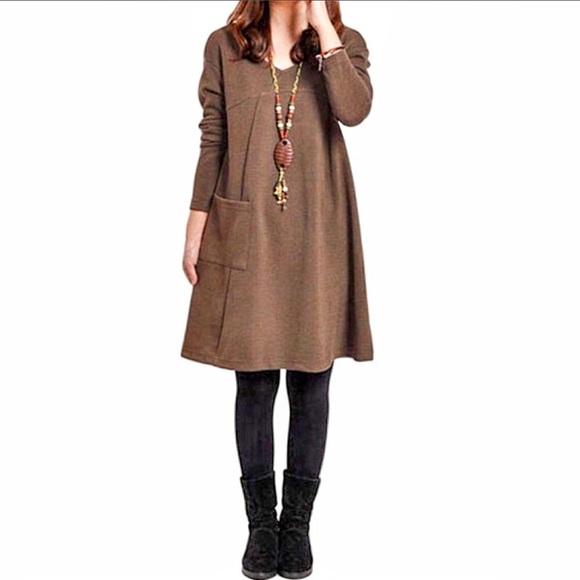 "Modern Owl Boutique Dresses & Skirts - ""Autumn"" Long Sleeve Pocket Dress"